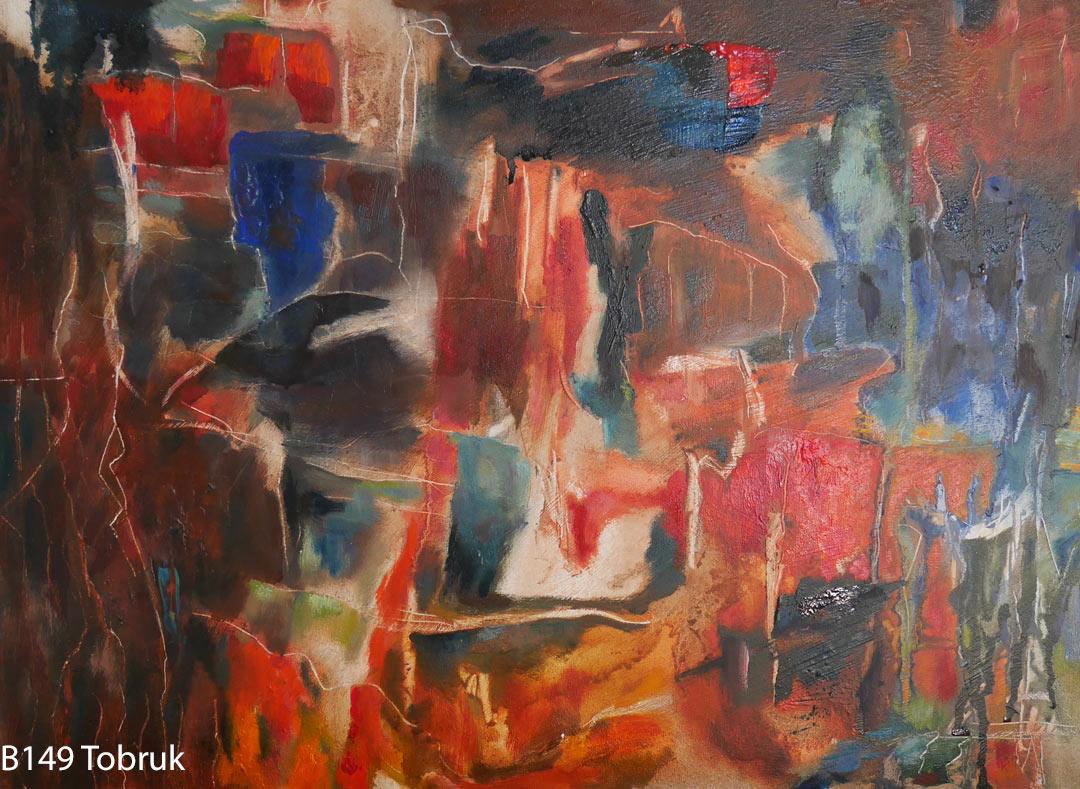 B149 Tobruk board 30x40cm May2018. Oil Paintings by Paul Hollingsworth.