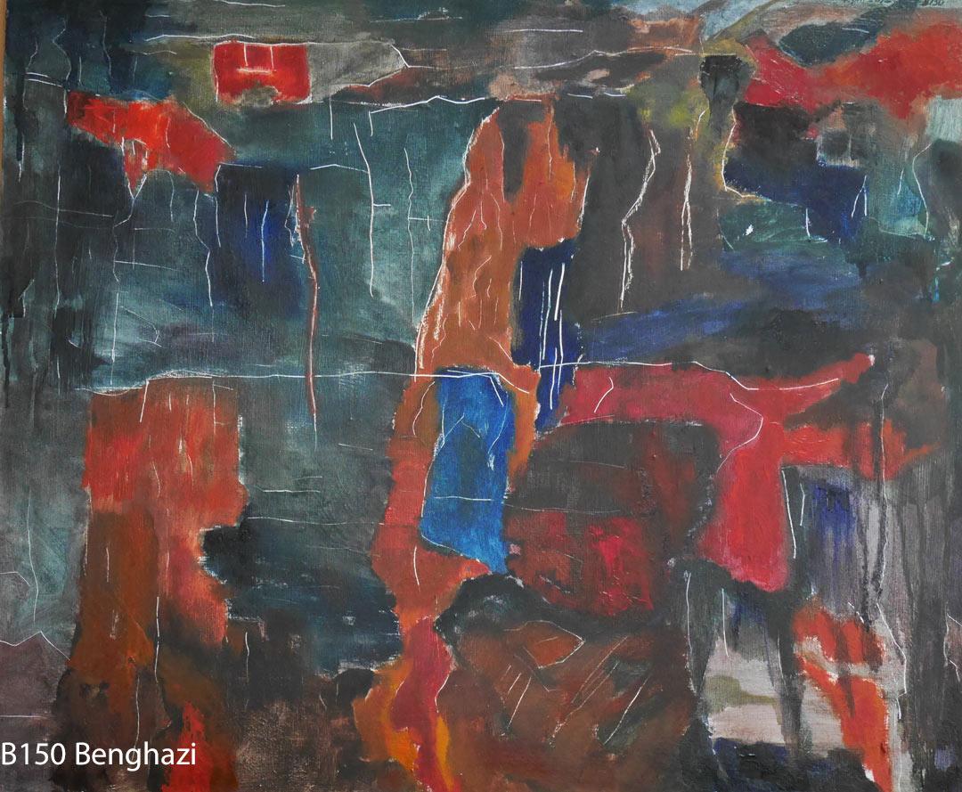 B150 Benghazi board 51x61cm May2018. Oil Paintings by Paul Hollingsworth.