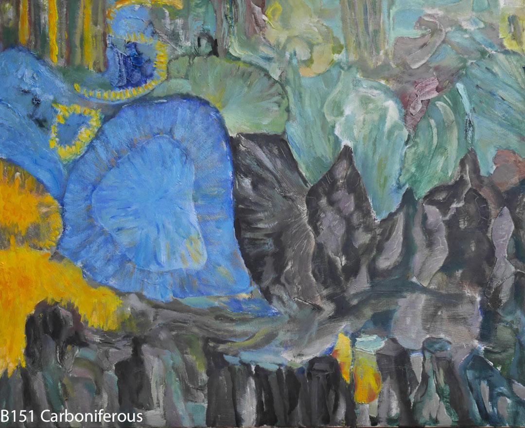 B151 Carboniferous canvas 61x76cm Hollingsworth Paul 13mei2018. Oil Paintings by Paul Hollingsworth.