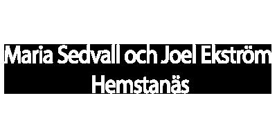 Maria Sedvall och Joel Ekström -Hemstanäs