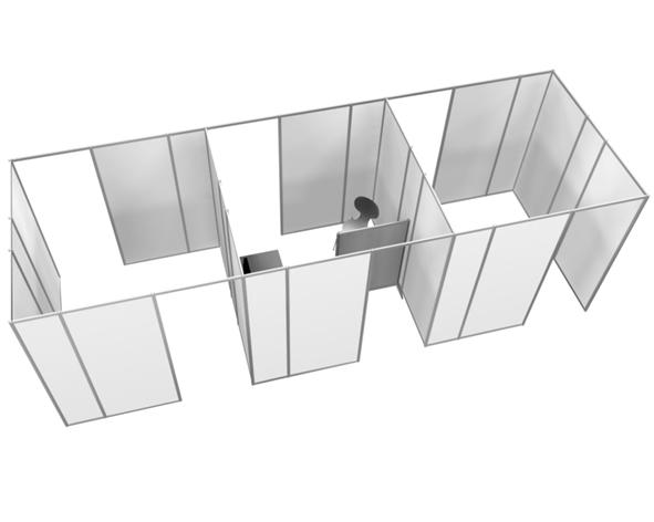 Modulopbyggede vægge til afskærmning - a/s Holmud