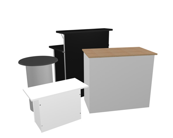 Podiums and desk for rent - a/s Holmud