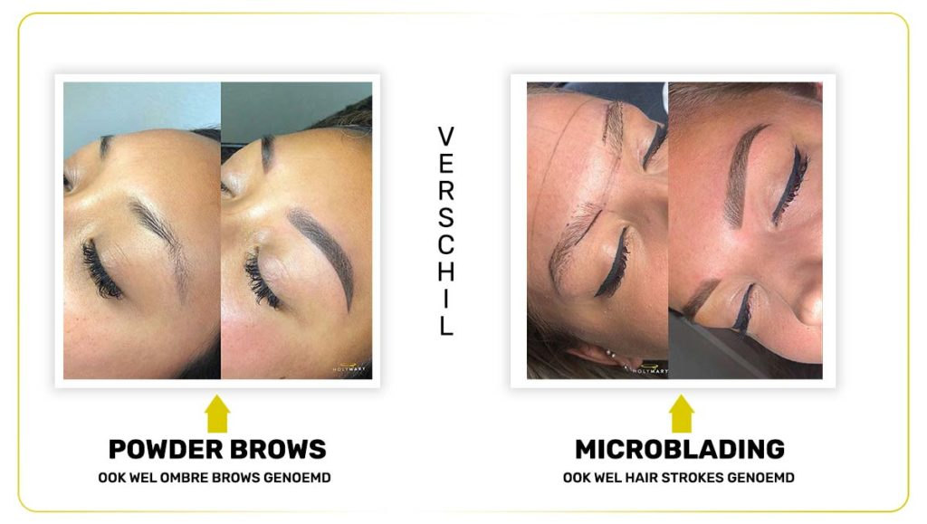 verschil microblading en powder brows