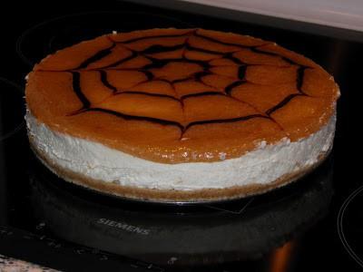 Cheesecake med rabarbermarmelade