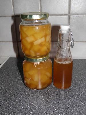 Syltede pærer og æble
