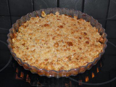 Æble crumble med havregryn - Smuldre æblekage med havregryn