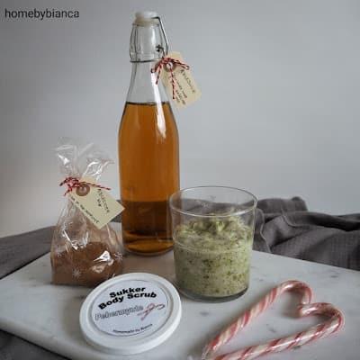 Pebermynte bodyscrub og hjemmelavet æblecider