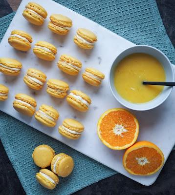 Macarons med appelsincurd