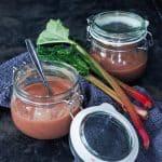 Rabarberkompot uden sukker sødet med dadler