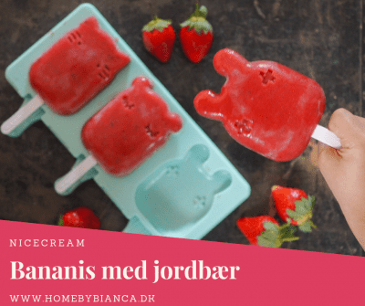Nicecream bananis med jordbær