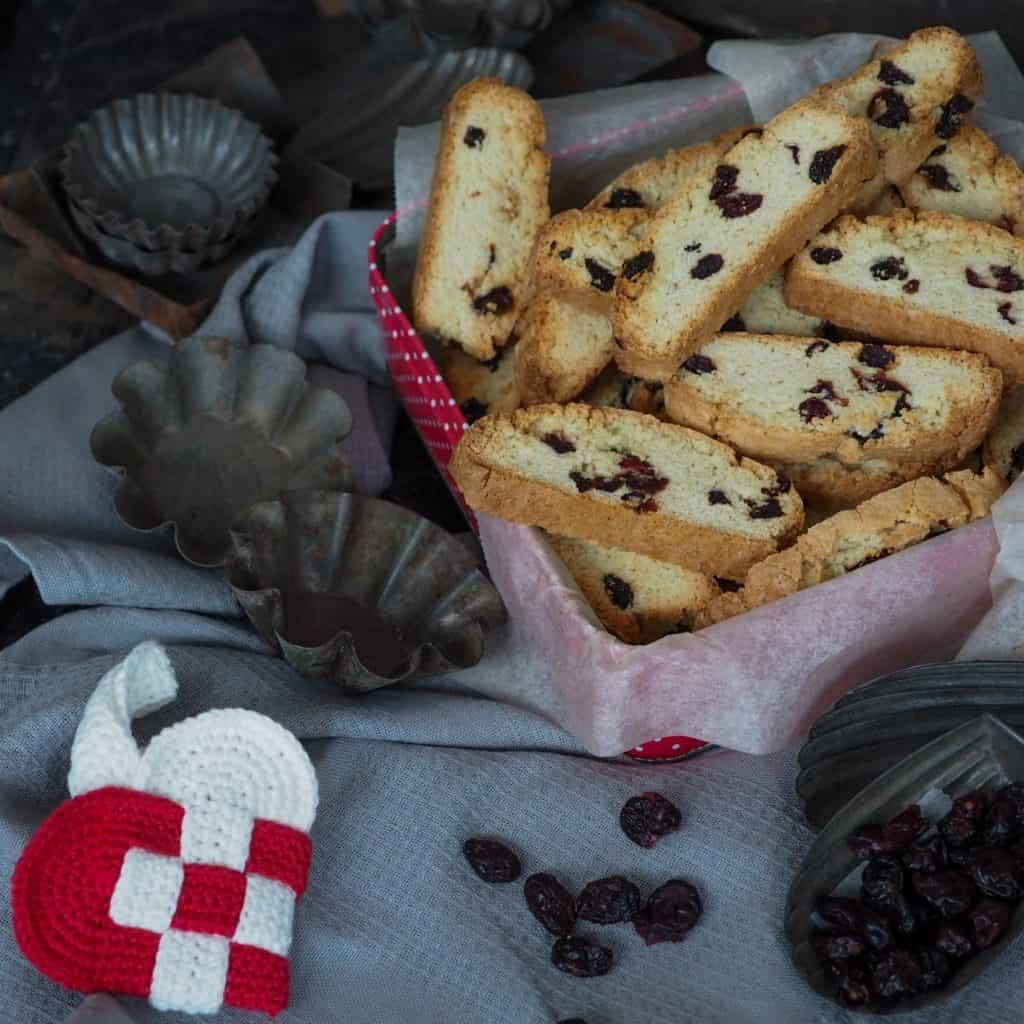 Biscotti opskrift Tranebær- og marcipan biscotti