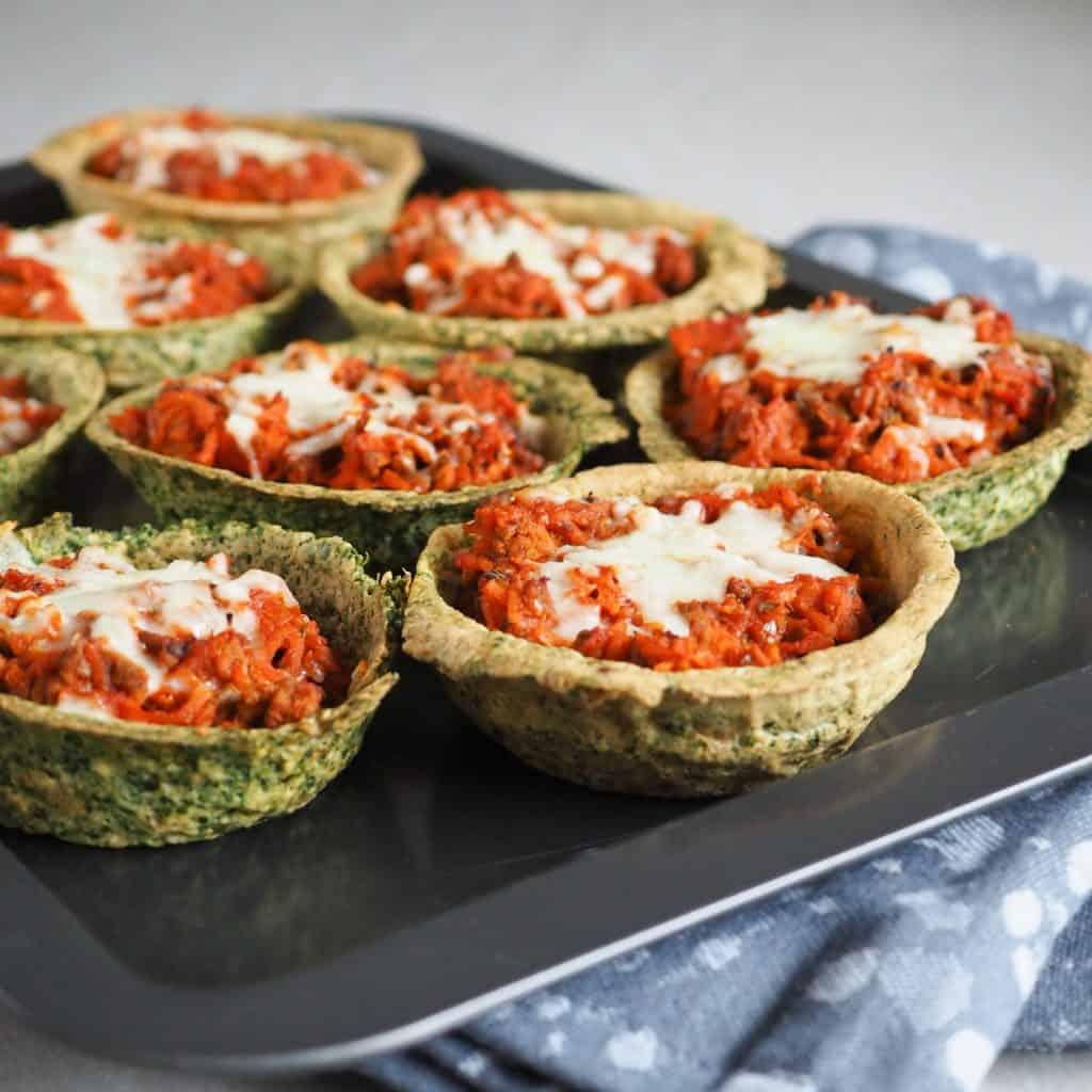 Spinatvafler med gulerodskødsovs