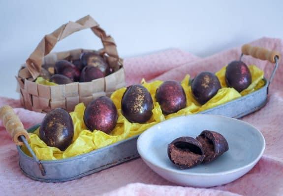 Fyldte chokolade påskeæg