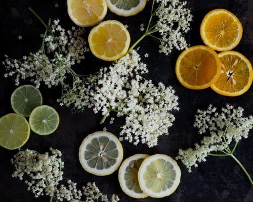 Hyldeblomstsaft med citron