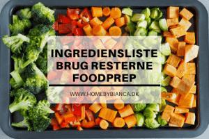 Foodprep - ingrediensliste
