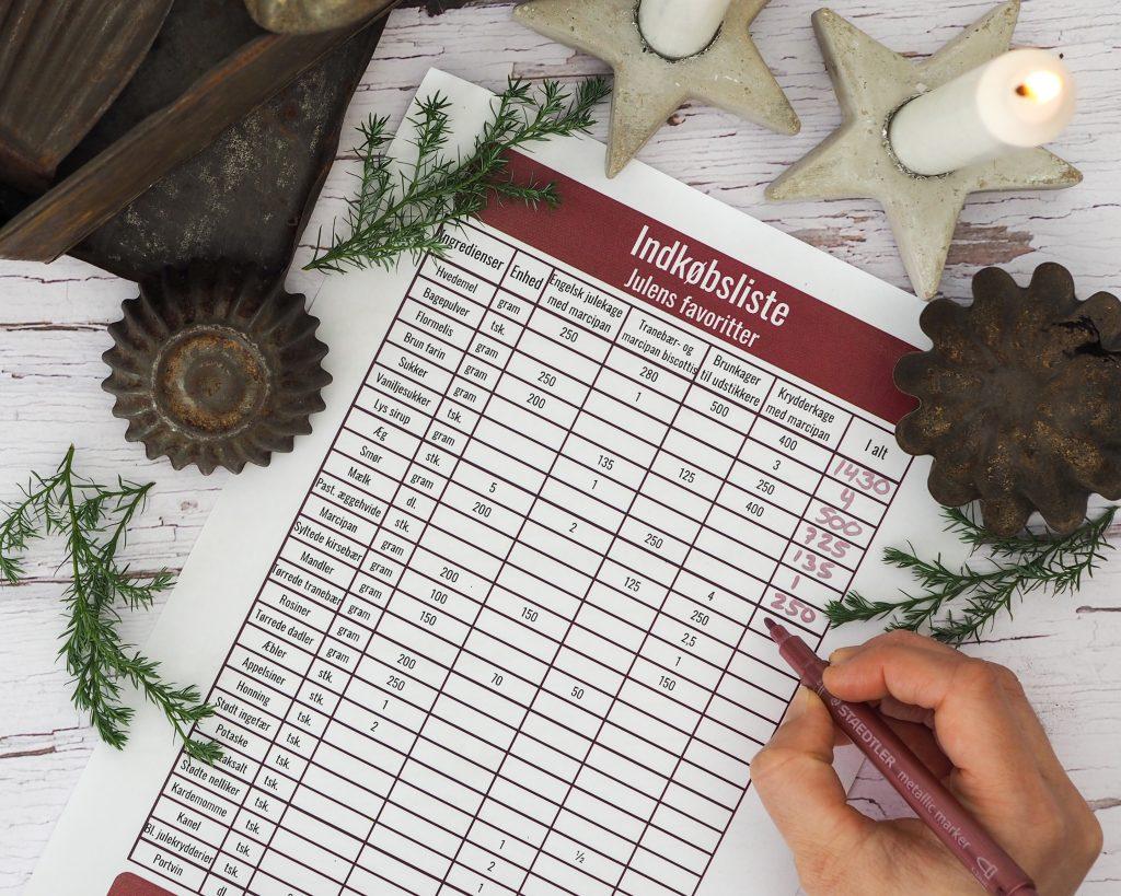 Planlæg dit julebag
