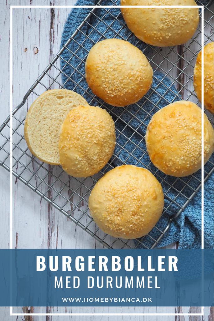 Burgerboller med durummel