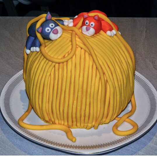 Garnnøgle kage