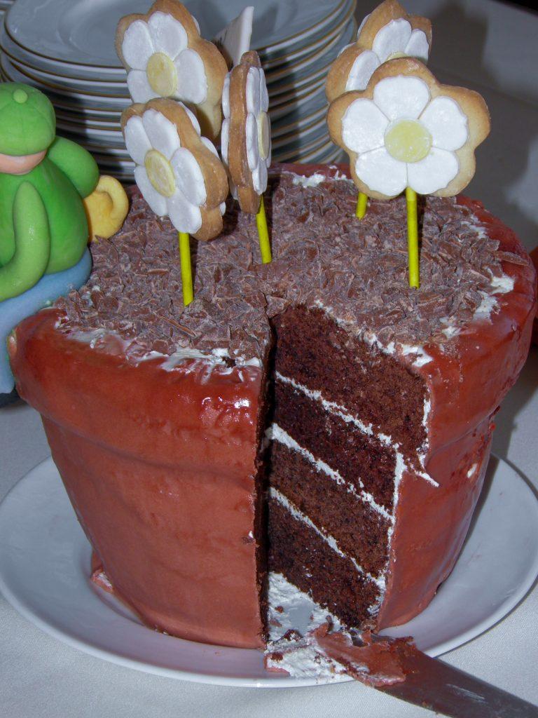 Potteplante kage