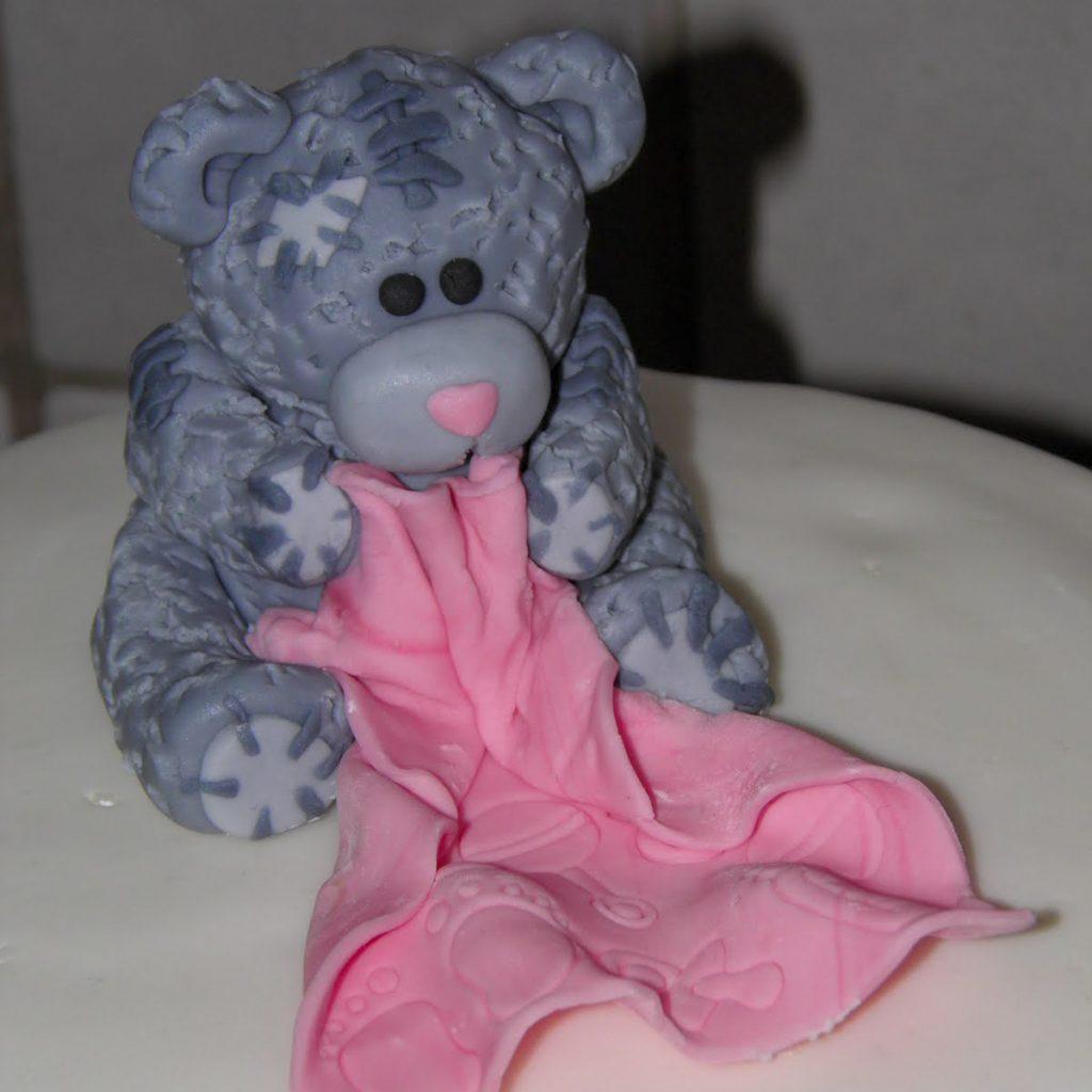 Tatty Teddy kage pige dåbskage