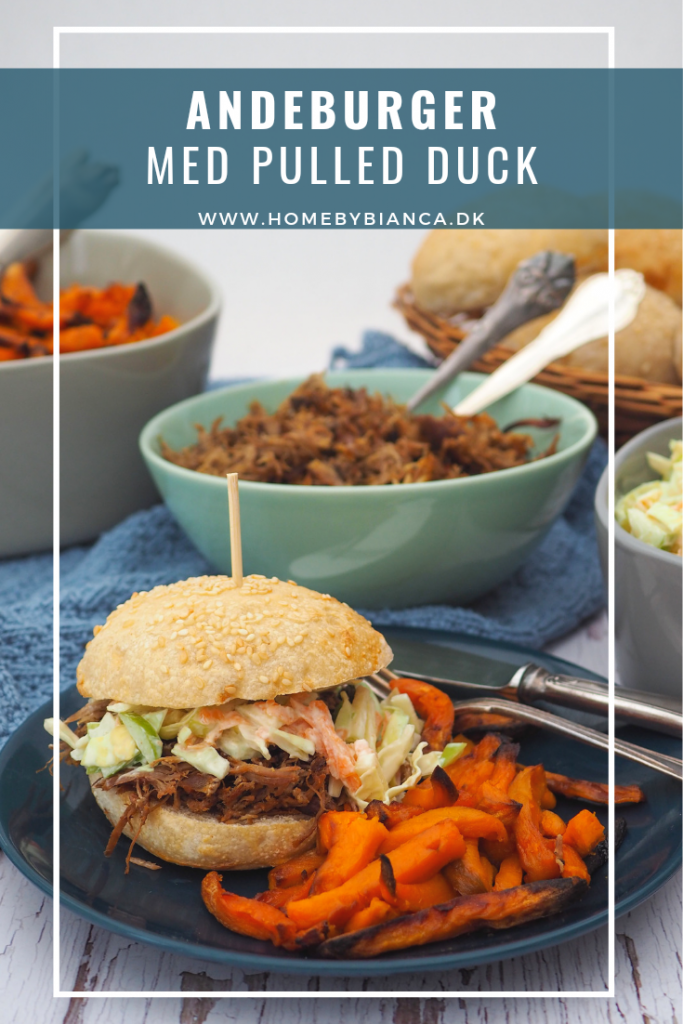 Andeburger med pulled duck