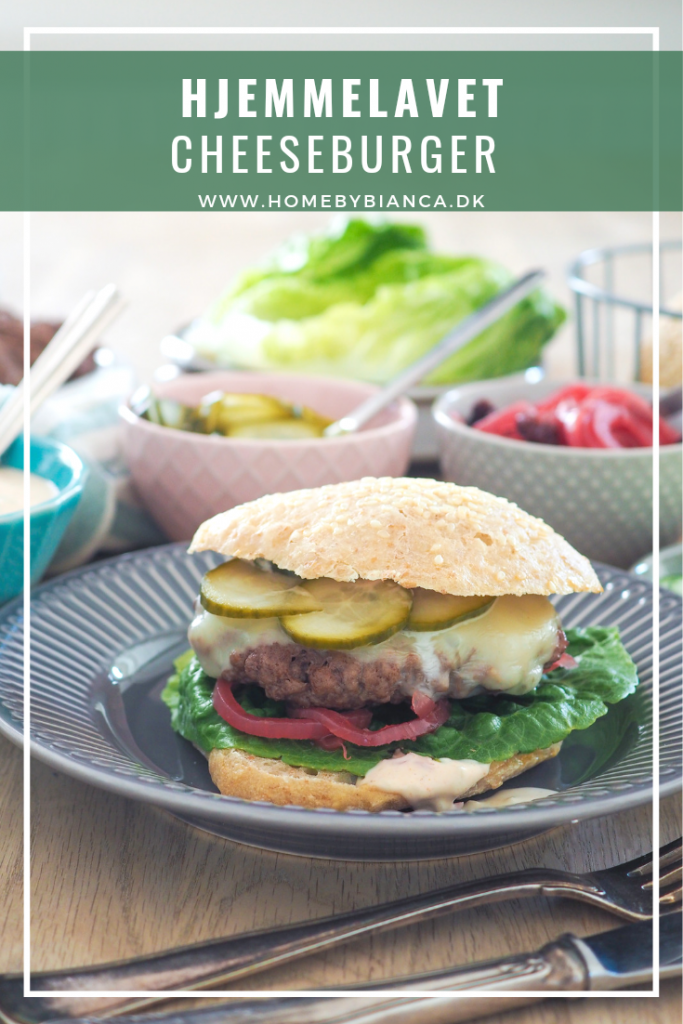 Hjemmelavet cheeseburger opskrift