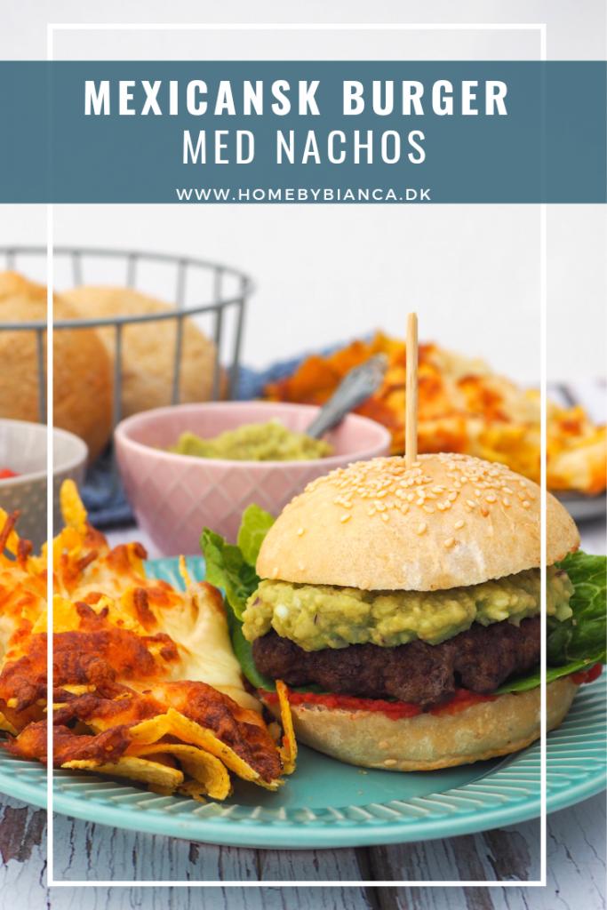Mexicansk burger med nachos
