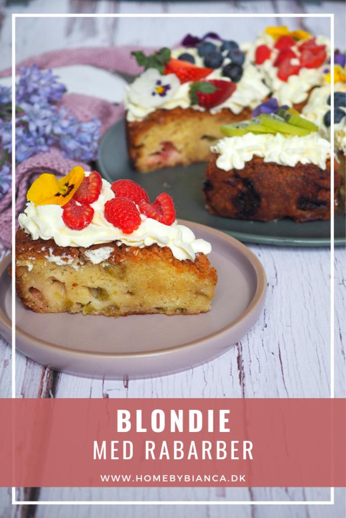 Blondie med rabarber