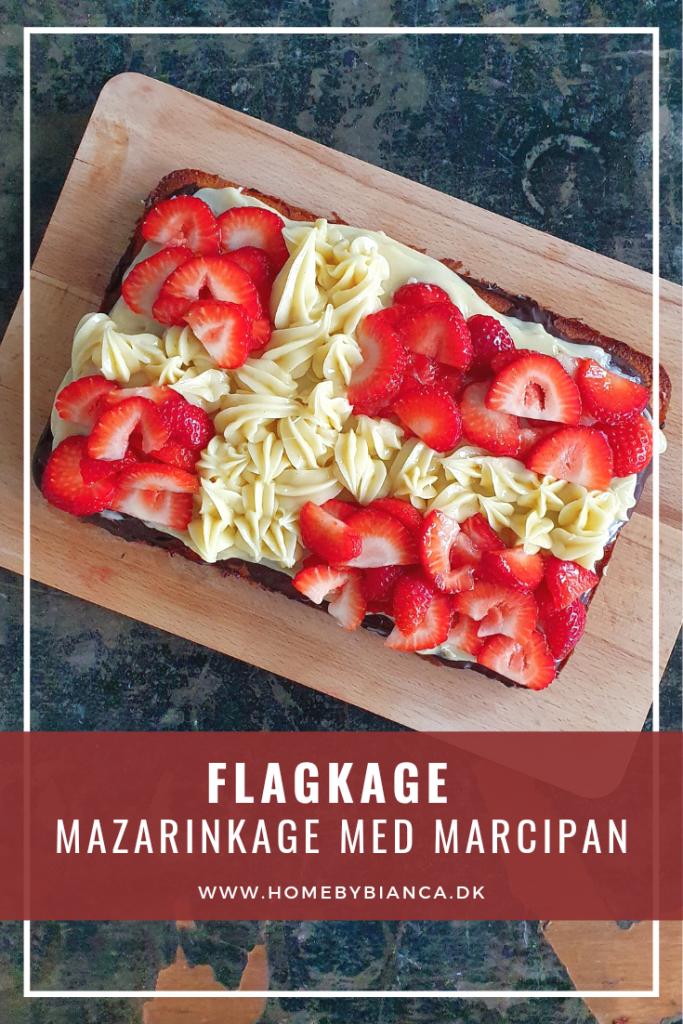 Flagkage - Mazarinkage med marcipan