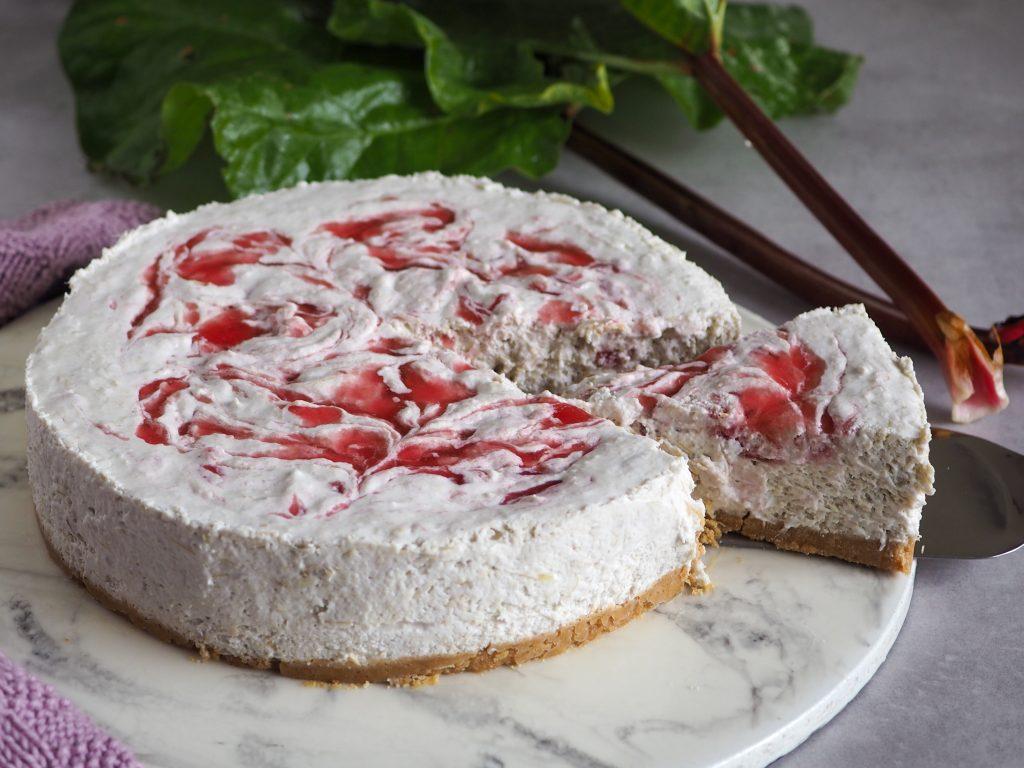 Vegansk rabarber cheesecake opskrift
