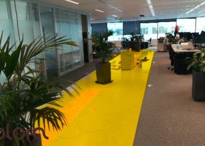 kantoor Youvia Amsterdam - kleurschets smeervloer youvia geel