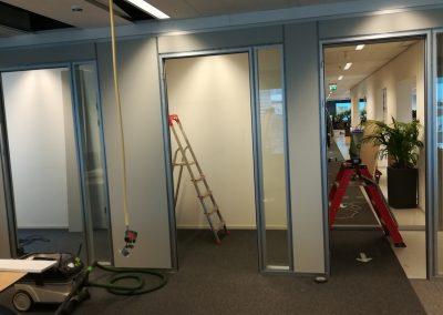 kantoor Youvia Amsterdam -soloplekken in aanbouw noordgevel