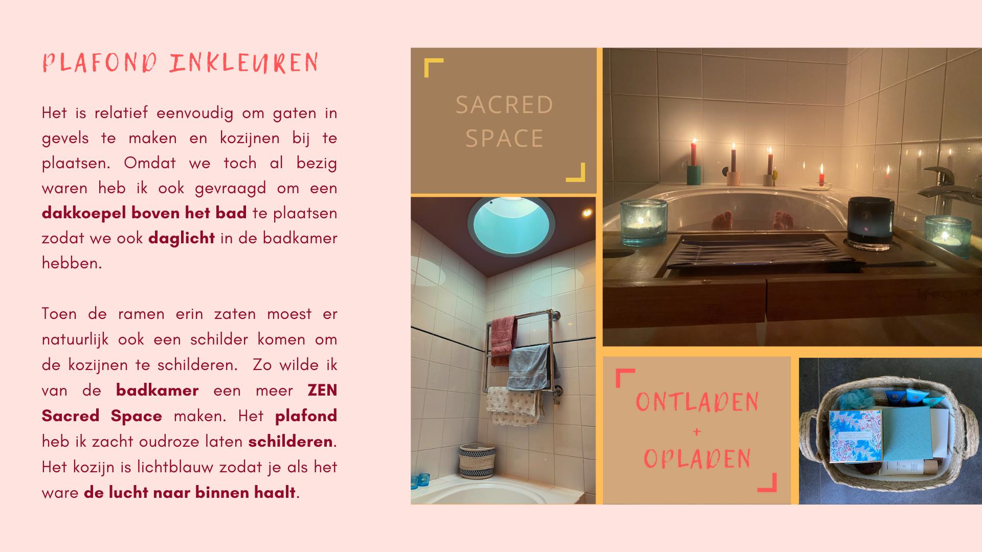 plafond inkleuren badkamer