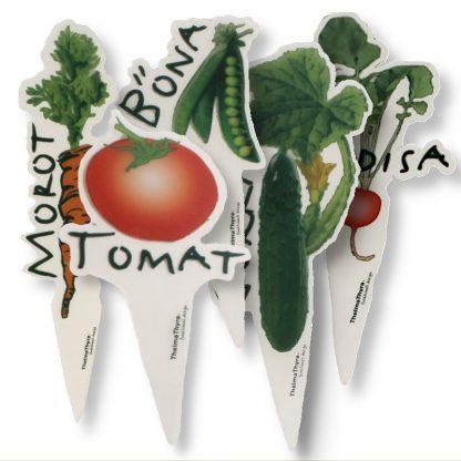 Trädgårdsmarkörer grönsaker