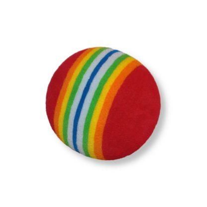 Regnbågsfärgad boll katt