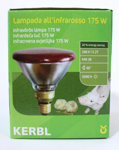 Infraföd lampa 175W