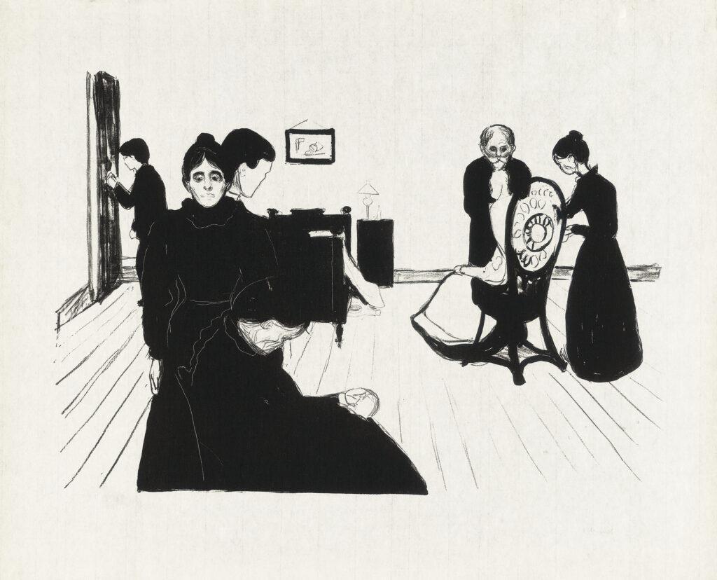 Edvard Munch: Tod im Krankenzimmer (1896)