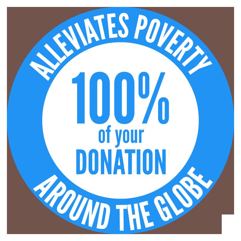 We Donate 100%