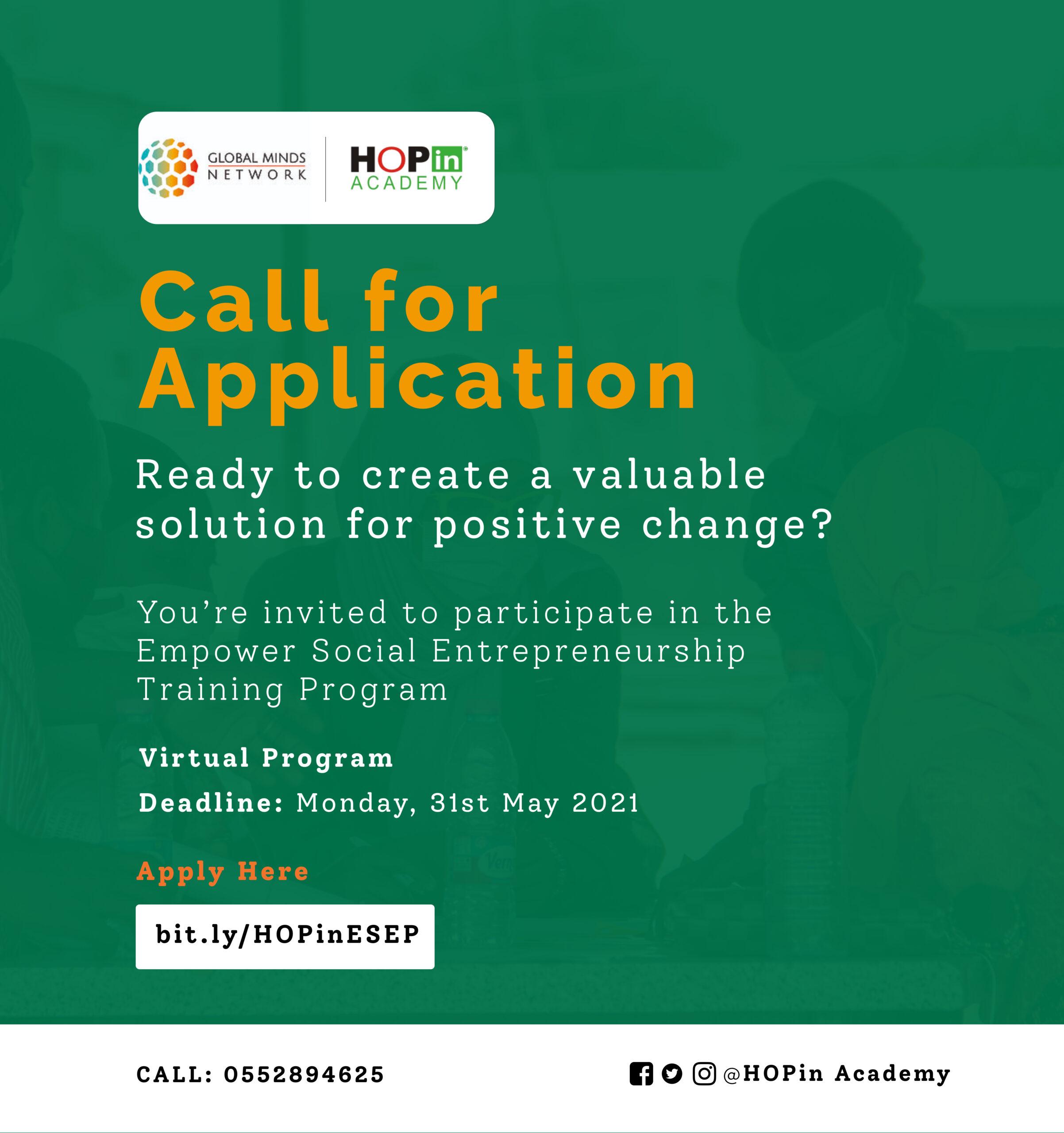 Applications Open for the Empower Social Entrepreneurship Program