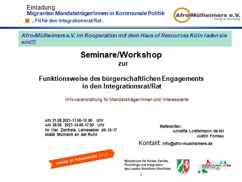 Mikroprojekt-Förderung mit Afro Mülheimers e.V.