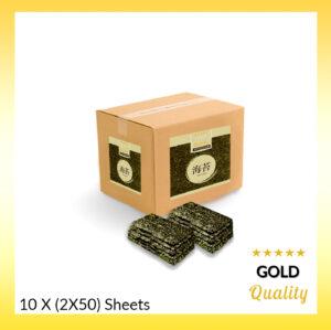 Klein doos Gold Nori 10×100 (Half-cut)
