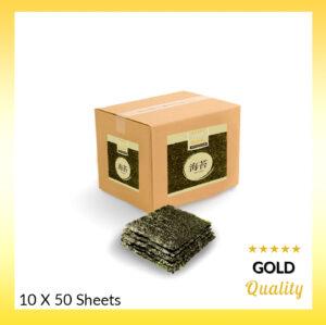 Gold Nori 10×50 vellen