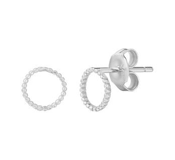 zilveren oorknoppen rond