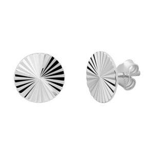 zilveren oorknop gediamanteerd