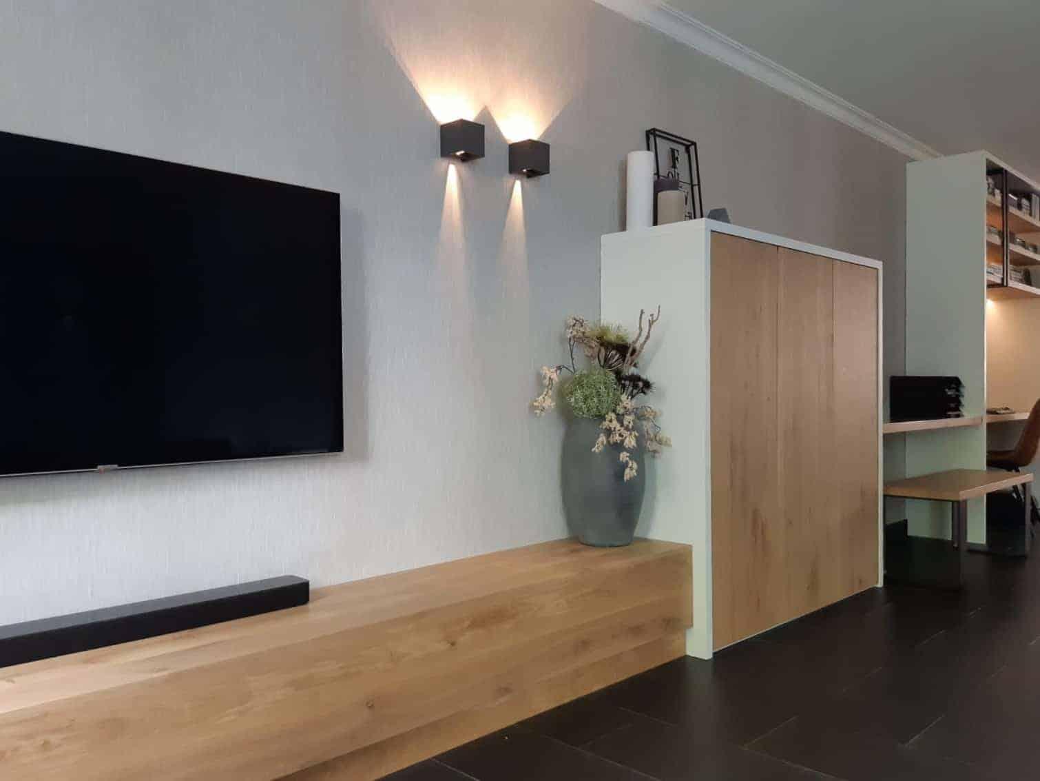 kasten wandmeubel eiken met plaatmateriaal|hout en vorm
