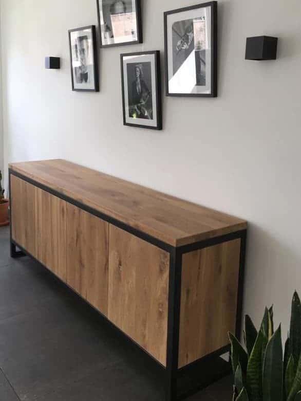 kasten dressoir eiken met staal | hout en vorm
