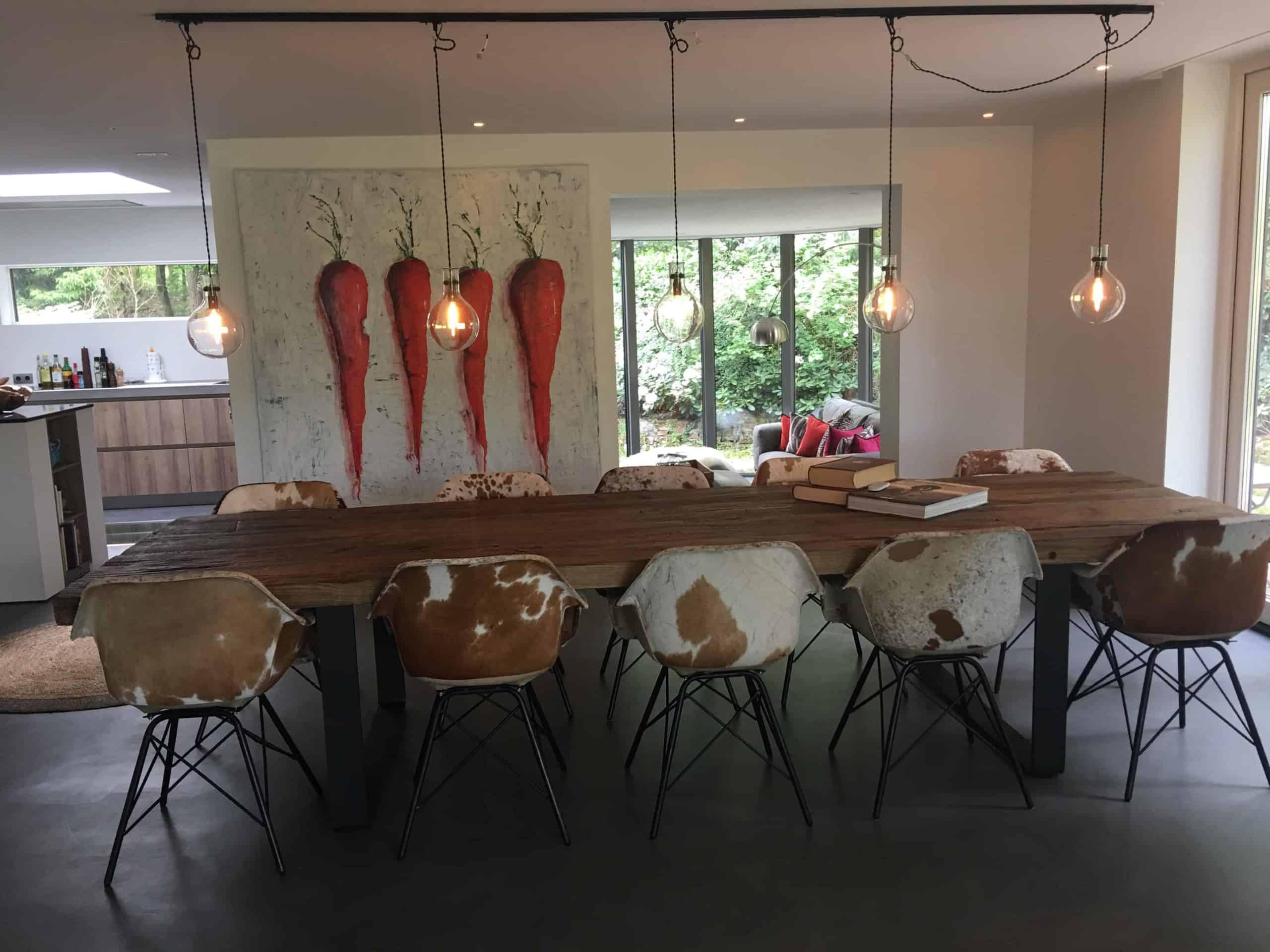 tafels eettafel zongedroogd eiken   Hout en Vorm