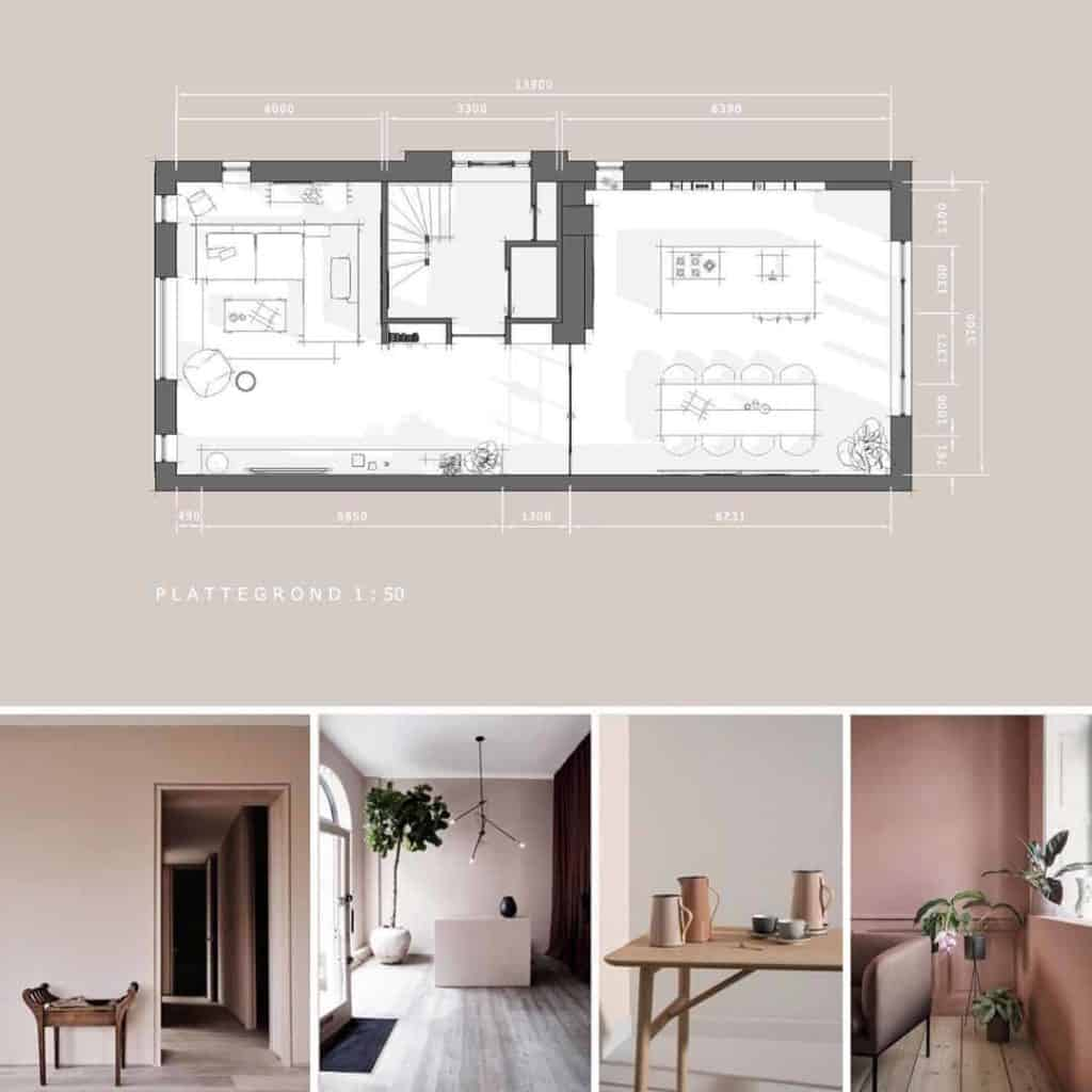 complete inrichting interieurschets | hout en vorm