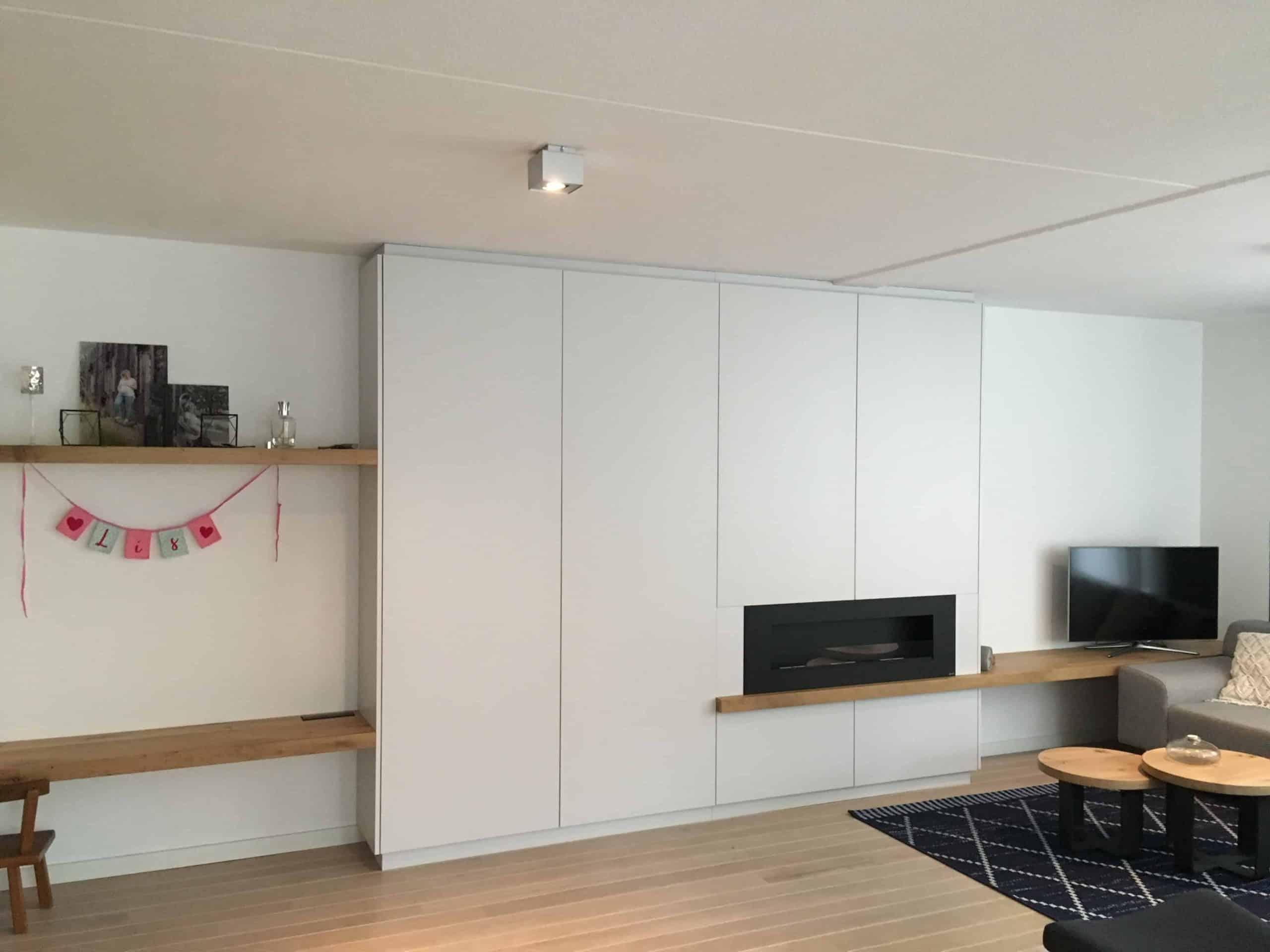 kasten wandmeubel licht grijs plaatmateriaal|hout en vorm