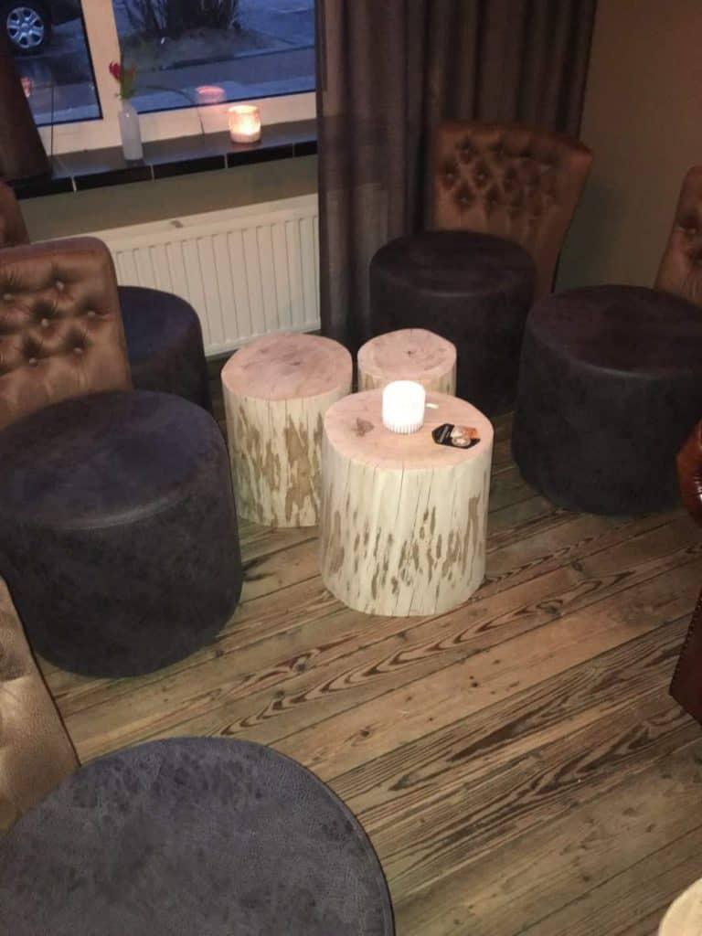 houten kaarsenstandaard